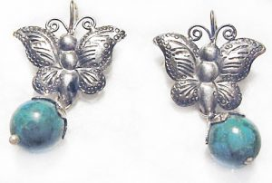 butterflies with turquoise